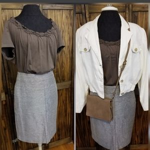 The Limited Collection Brown & Cream Skirt